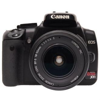 Câmera Canon XTI com Objetiva EF-S 18-55mm F/3.5-5.6 II - Seminova