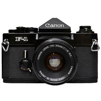 Câmera Canon F-1 com Fd 50mm F/1.8 S.C - Usada