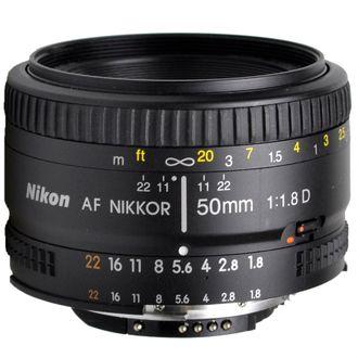 Objetiva Nikon AF 50mm F/1.8D - Usada