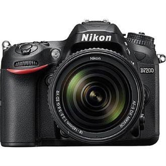 Câmera DSLR Nikon D7200 com Objetiva  AF-S DX 18-140mm F/3.5-5.6G ED VR