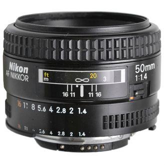 Objetiva Nikon AF 50mm F/1.4 - Usada