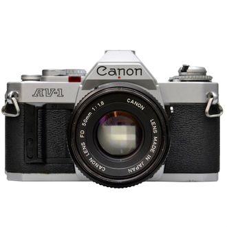 Câmera Canon Av-1 com Objetiva FD 50mm F/1.8 - Usada