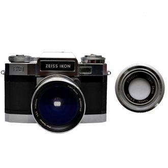 Câmera Zeiss Ikon ContaflEX Matic com Tessar 35mm F/3.2 + Tessar 50mm F/2.8 - Usada