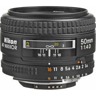 Objetiva Nikon AF 50mm F/1.4D - Usada