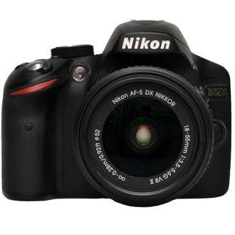 Câmera Nikon D3200 com Objetiva AF-S 18-55mm F/3.5-5.6G VR - Usada