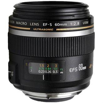 Objetiva Canon Macro EF-S 60mm F/2.8 USM - Usada