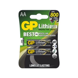 Cartela GP IIthium com 2 Pilhas AA