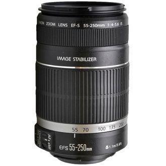 Objetiva Canon EF-S 55-250mm F/4-5.6 LS - Usada