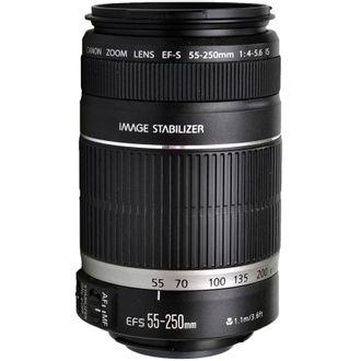 Objetiva Canon EF-S 55-250mm F/4-5.6 IS - Usada