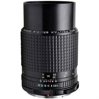 Objetiva Pentax 67 SMC 200mm F/4 - Usada