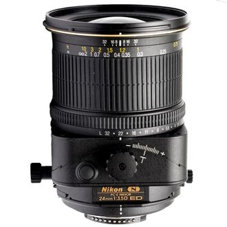 Objetiva Nikon PC-E 24mm F/3.5D Ed (N) Tilt-Shift - Usada