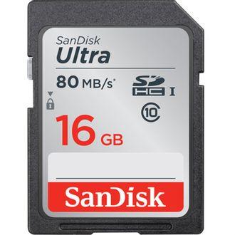 Cartão de Memória Sandisk Sd Ultra 16Gb - 80 Mb/S