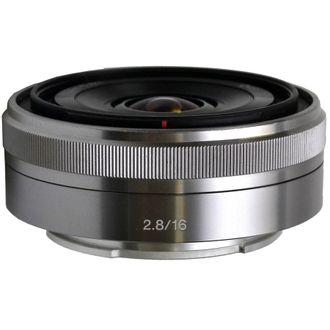 Objetiva Sony E 16mm F/2.8 - Prata - Usada