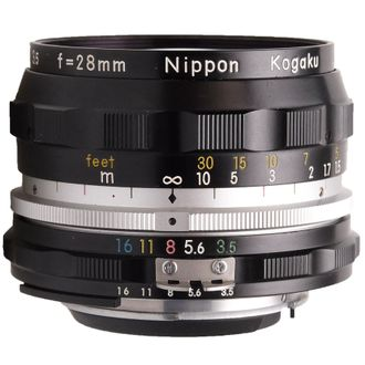 Objetiva Nikon Nikkor-H AI 28mm F/3.5 - Usada