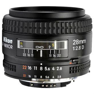 Objetiva Nikon AF 28mm F/2.8D - Usada