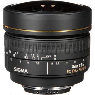 Objetiva Sigma 8mm F/3.5 EX DG - para Nikon - Usada