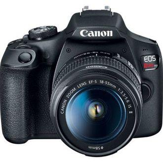Câmera DSLR Canon EOS Rebel T7 com Objetiva Canon EF-S 18-55mm LS II